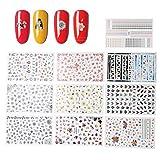 10 fogli assortiti adesivi decorazione unghie decalcomania unghie fai da te decorazione strumento arte adesivi chiodi adesivi