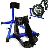 BITUXX® Motorrad Montageständer Motorradwippe vorn Motorradständer Wippe Transportständer Vorderrad Blau