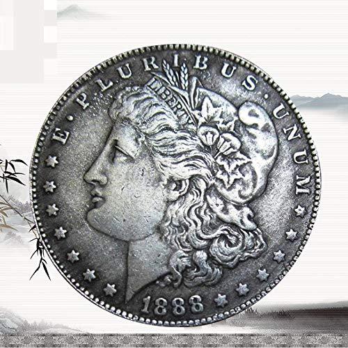 YWJHY Kupferkern Antik 1888 US Silberdollar Morgan Münze,Silber,Einheitsgröße (Morgan Silber Münzen)