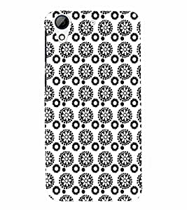 PrintVisa Corporate Print & Pattern Flower 3D Hard Polycarbonate Designer Back Case Cover for HTC Desire 626