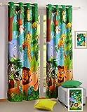 Bambini decorazioni della stanza stampati in digitale Jungle Animal World 2 pannelli di tamponamento della porta