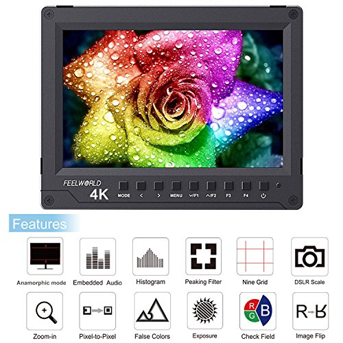 Top FEELWORLD A737 7 inch Full HD 1920×1200 IPS HDMI Camera Monitor Full Aluminum Housing with Histogram False Colors Zebra features for DSLR Camera and Camcorder (FW760 upgrade version) Online