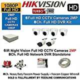 #7: Hikvision Full HD (2MP) 6 CCTV Cameras & 8 Ch.Full HD DVR Kit (All Accessories) ( SOLD & FULFILLMENT BY FEEDLINE COMMUNICATIONS TRUSTED BY AMAZON )
