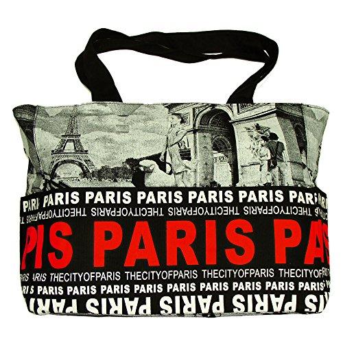 Robin Ruth - Sac Shopping 'Paris Photo' Robin Ruth - Couleur : Noir, Rouge