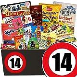 14. Jubiläum | Geschenk Schokolade Männer | GRATIS DDR Kochbuch | mit Zetti Knusperflocken, Zetti Edel Bitter und mehr | Schoko Box