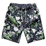 CHENGYANG uomo boardshorts di lino beachwear calzoncini di stampate pantaloncini con tasconi.Guida alle taglie per pantaloncini lino estivi:M: Vita 70-77cm/27.5-30.3in | Fianchi 100CM/39.4in | Lunghezza di pantaloncini 48cm/18.9in.L: Vita 77-...