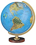 Traditional Globe w Die Cast Semi-Meridian & Raised Relief