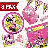 Pack Fiesta de cumpleaños Minnie Mouse para 8 Personas