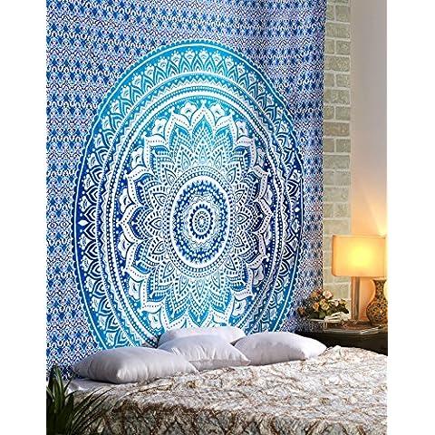Hippie Mandala Multi Propósito del paño de algodón 108 por 90 pulgadas, la pared decorativos colgantes, Hoja de picnic en la