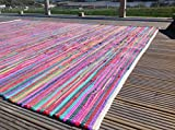 Gorgeous Second Nature Umweltfreundlich Mehrfarbig Chindi Flickenteppich–Über 20Größen INC Läufer und quadratisch, baumwolle, Multi Colours, 100 x 100 cm