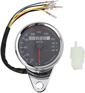 Universal Motorrad Led Tacho Tachometer Drehzahlmesser Geschwindigkeitsmesser Kilometerzähler Gauge Auto