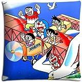 Sofá fundas de almohada de Doraemon caso Durable increíble con cremallera poliéster + algodón 18x 18(45x 45cm)