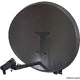 60cm MK4antena parabólica Zone 1& 2–Kit de montaje para pared–para Sky/Freesat/Astra/POLSAT, Hotbird/HD–cablefinder