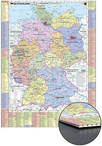 Deutschland politisch und Autokennzeichen zum Pinnen auf Wabenplatte