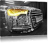 Audi Motor, Bild auf Leinwand, XXL riesige Bilder fertig gerahmt mit Keilrahmen, Kunstdruck auf Wandbild mit Rahmen, günstiger als Gemälde oder Ölbild, kein Poster oder Plakat, Format:60x40 cm
