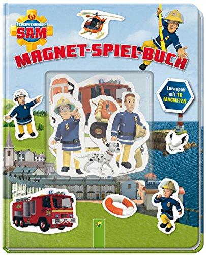 Feuerwehrmann Sam Magnet-Spiel-Buch: Lernspaß mit 16 Magneten (3 Person Passenden Kostüm)