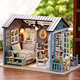 Doll House Furniture DIY Miniature Dust Cover 3D Wooden Miniaturas Dollhouse Toys For Children Birthday Gifts Cake Diary MOPIXIE