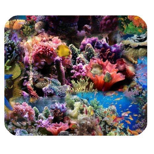 Barriera Corallina, pesci corallo, vita di mare rettangolare in gomma antiscivolo mousepad mouse pad/Tappetini per Mouse Cover