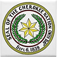 Cafepress – Great Seal of the Cherokee Nation – tile sottobicchiere, bevanda sottobicchiere, piccolo sottopentola