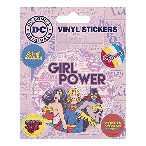 Pyramid International DC Comics Vinyl-Aufkleber Girl Power, Papier, Mehrfarbig, 10x 12,5x 1,3cm 10 Power Girl