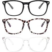 Livhò 3 Pz Occhiali Anti Luce Blu Filtro Occhiali Antiriflesso Uomo Riposanti per PC da Riposo Donna per Schermo…
