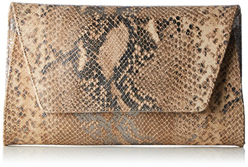 Unisa ZDAILA_FV, Clutch Femmes, 5x15x25 cm Multicolore (ALMOND)