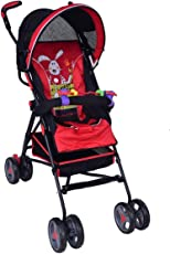 PA Toys Kids Pram-Stroller Red for Baby boy, Baby Girl and Unisex (Color May Very)