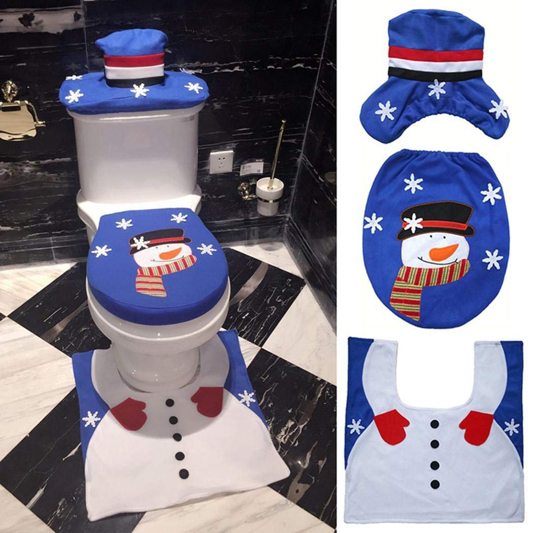 Decorare il WC in modo creativo per Natale