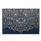 wishmade 20x marineblau blau Laser geschnitten Flora Spitze Hochzeit Einladungen Karten mit Umschläge für Brautschmuck Dusche, Verlobungsring (Set 20Stück)