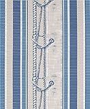 Badvorleger Aquamat Antirutsch Matte Bodenbelag, Bad Garten Küche, Schiffsknoten Blau, Größe wählbar (100x65 cm)