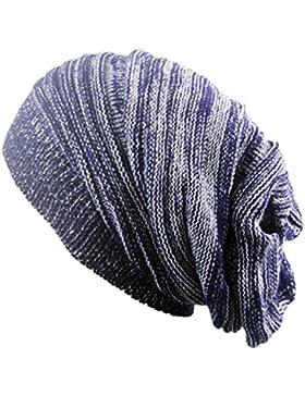 Outflower diadema de moda otoño y invierno en dos colores. Gorro de punto Hip Hop de lana cálida, e, 42-65cm
