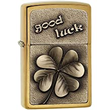Zippo 2004835 Good Luck Clover Emblème Briquet Laiton 3,5 x 1 x 5,5 cm