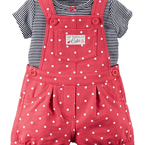 carterss-latzhose-t-shirt-sommer-set-baby-maedchen-shorts-outfit-girl-shorts-74-80-rot
