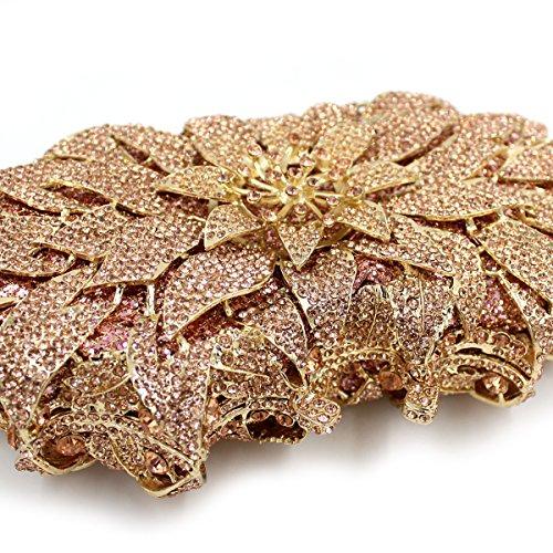 MOGOR, Poschette giorno donna medium, Gold (oro) - ABC-279 Gold
