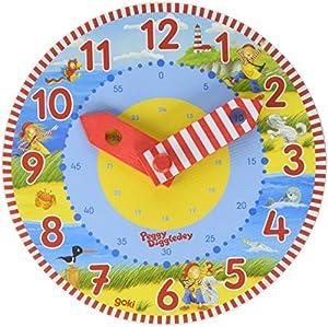 Goki 58526 Círculo Reloj de Pared, Madera, Madera, 180 mm, 180 mm, 25 mm