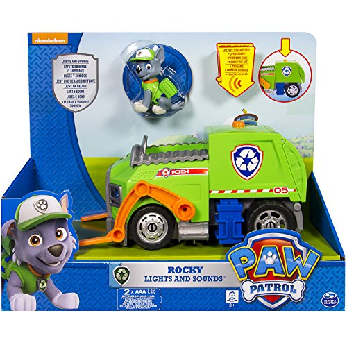 Paw Patrol 6027166 - Rocky e Il Suo Veicolo con Luci e Suoni