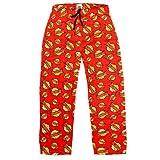 The Big Bang Theory - Herren Lounge-/Schlafanzughose mit Bazinga-Aufdruck - schwarzer Bandgurt - Rot - S