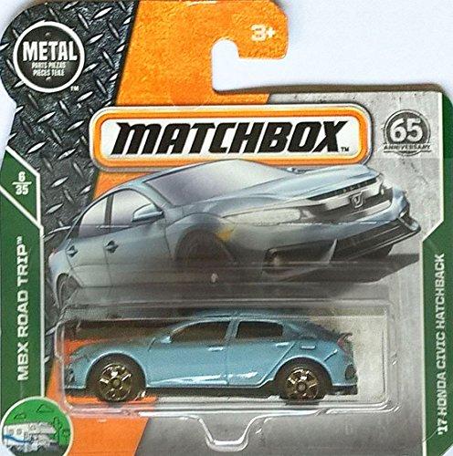 Matchbox Honda Civic Hatchback - 1:64 - Farbe: lightblue (Edition MBX Road Trip 6/35) (Trip Motorrad Road)