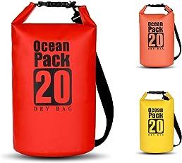 BWei Dry Bag, Wasserdicht Taschen/Packsack mit Lang Verstellbarem Schultergurt für Boot und Kajak, Angeln, Rafting, Schwimmen, Camping und Snowboarden