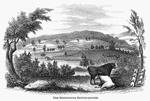 The Poster Corp Battle of Bennington 1777. /Nthe Battlefield at Bennington Vermont. Wood Engraving American Mid-19Th Century. Kunstdruck (60,96 x 91,44 cm) -