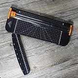 Massicot A4 30 cm Lame Titane Papier Guillotine de Papier Petit Trimmer Massicot Motif pour Coupon Craft papier photo Noir