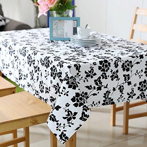 Tabgw Nappe rectangulaire salle à manger jardin hotel restaurant café table tissu couvercle simple style Black Rose 90x140cm Accessoires pour la maison