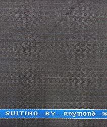 Raymond 45 % Merino Wool Grey Fine Unstitched Suit Fabric 3metres