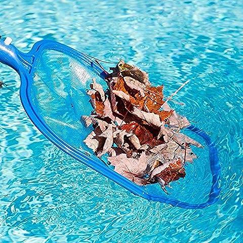 Nettoyeur de piscine, Tianranrt Professional Râteau à feuilles en maille filet de cadre Écumoire Aspirateur piscine Spa Outil NEUF (Bleu) (Bleu)