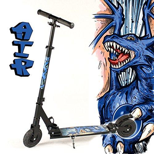 hepros-trottinette-xxl-air-vtt-modele-fully-noir-150-mm-roues-69-bar-dragon-bleu