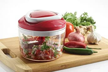Pure Kitchenware Chopper Vegetable Cutter 3 In 1 - (Red)