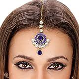 Kauberi Jewels Maang Tikka (Blue)