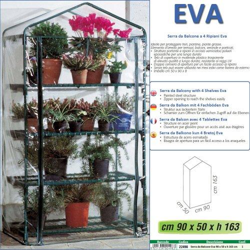 Betty Garden Serra NEW da Balcone a 4 Ripiani Eva - Serre per il ...