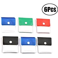 6 pcs Pocket Ashtray Ash Pouch- Fireproof PVC-Odor Free-Portable Compact- Assorted Color
