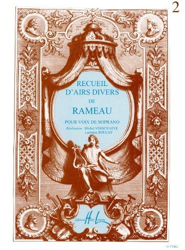 Recueil d'airs divers de Rameau pour...